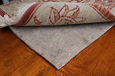 RUGPADUSA, Basics 100% Felt Rug Pad Available in Multiple Thicknesses, Adds Cushion & Floor Protection Under Rugs, Safe All Floors & Finishes, Made in The USA