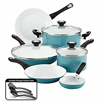 Amazon.com: Farberware 12 Piece Ceramic Nonstick Cookware ...