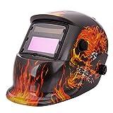 FCH® Darkening Welding Helmet Arc Tig mig grinding mask-Flames/Skull-Auto-Darkening -Solar/C.P.S