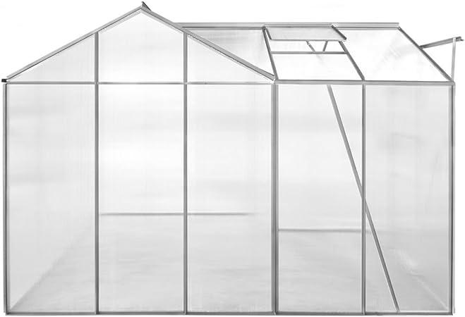FZYHFA - Invernadero (Aluminio, 1 sección, con Paneles Huecos, Marco de aleación de Aluminio y Paneles de policarbonato): Amazon.es: Hogar