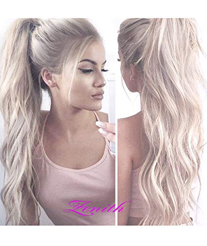 Zenith 2019 Design- Flawless Middle Part Platinum Blonde 613 Lace Front Wigs  with Roots Light 1b2d8a73ea