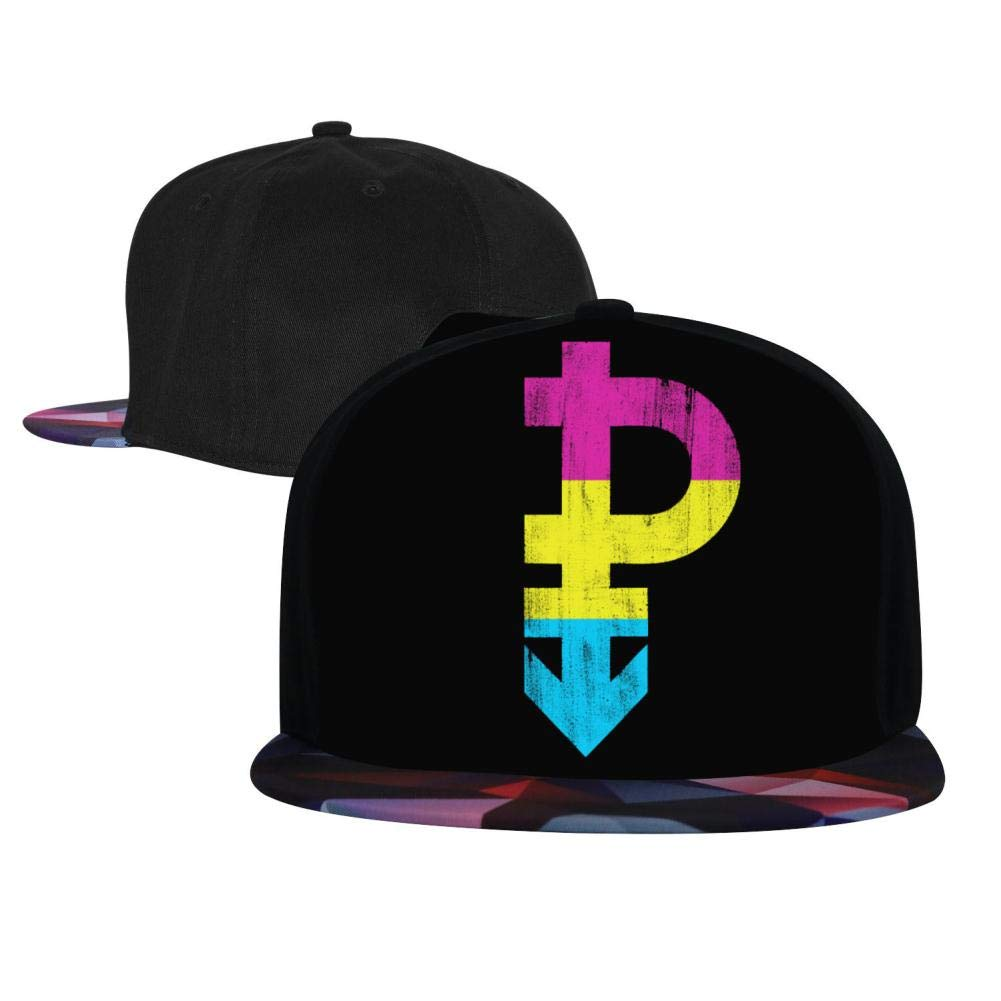 Adjustable Hip Hop Flat-Mouthed Baseball Caps EUYK77 Pansexual Symbol LGBT Pride Mens and Womens Trucker Hats