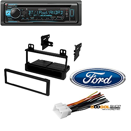 Trim Built Installation In (Kenwood KDC-BT368U in Dash CD Receiver with Built in Bluetooth Dash Installation MOUNTING Trim Bezel with Wiring Harness for Select Ford Lincoln Mercury Vehicles)