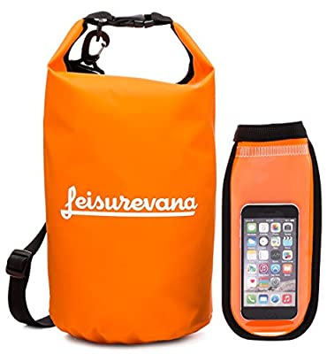 Leisurevana Watertight Dry Bag - Holds 10L of Equipment & Gear - Lightweight Dry Sack - Premium Closure Seal System - Great for Outdoors, Traveling, Camping & More
