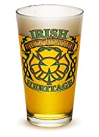 Pint Glasses – Firefighter Gifts for Men or Women – Firefighter Irish Heritage Beer Glassware – 4 Piece Collector Set (16 Oz)
