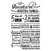 Vinilo Decorativo Para Pared Receta De Nuestra Familia
