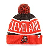 Cleveland Browns Orange Cuff ''Calgary'' Beanie Hat with Pom - NFL Cuffed Winter Knit Toque Cap