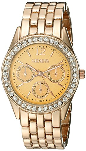 Geneva Women's FMDM312C Analog Display Japanese Quartz Rose Gold Watch