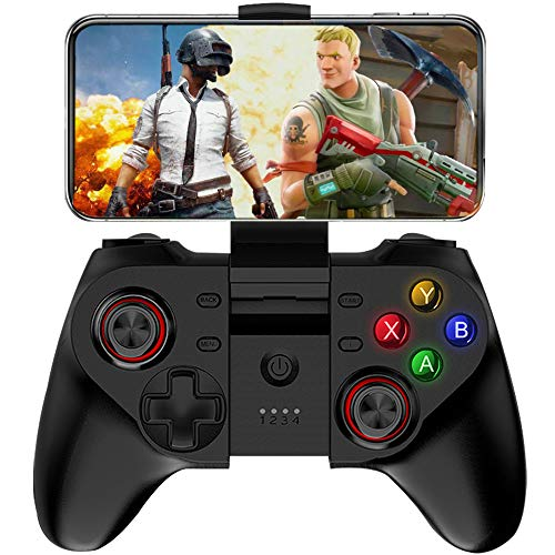 Mobile Controller for Fotnite, Megadream Wireless Key Mapping Gamepad for iOS Android iPhone Samsung Galaxy HTC LG Tablet, Support Online Action Shooting Racing Sport Game - No Simulator