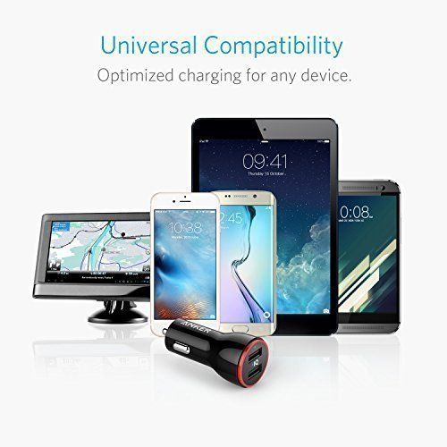 Anker 24W Dual USB Car Charger, PowerDrive 2 for iPhone X / 8 / 7 / 6s / Plus, iPad Pro / Air 2 / mini, Galaxy S7 / S6 / Edge / Plus, Note 5 / 4, LG, Nexus, HTC and More