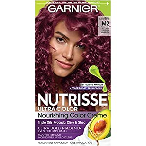 Garnier Hair Color Nutrisse Ultra Color Nourishing Hair Color Creme, Sweet Grenadine M2, 1 Count