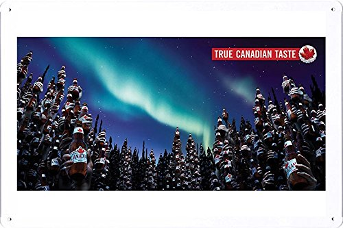 tin-sign-metal-poster-plate-8x12-of-molson-canadian-beer-true-canadian-taste-forest-by-food-beverage