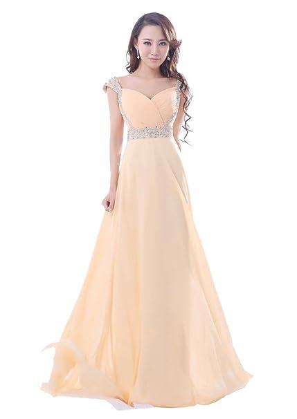 new style d464f e9549 Balllily, abito da sera, da donna, lungo, in chiffon, per cerimonie ed  eventi eleganti