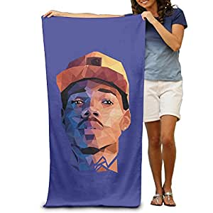 Chance Rapper Beach Towel Beach Blanket For Adult -- Cool Graphic Travel Bath Towel -- Size:80cm*130cm -- Microfiber:Super Absorbent -- Thin,lightweight,quick Dry,convenient