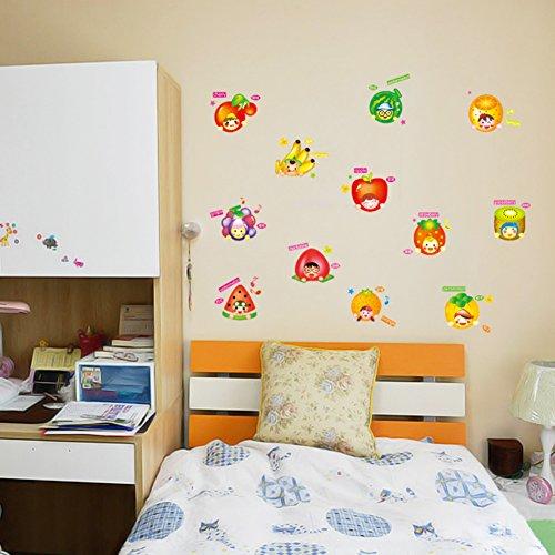 Pegatinas de pared para niños,Ordenador portátil Refrigerador gabinetes pared adhesivos decor armario puerta pared...