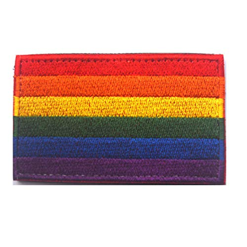 (SOUTHYU LGBT Pride Rainbow Flag Morale Patch Gay Lesbian Right Embroidered Badge Decorative Appliques Fastener Hook & Loop)