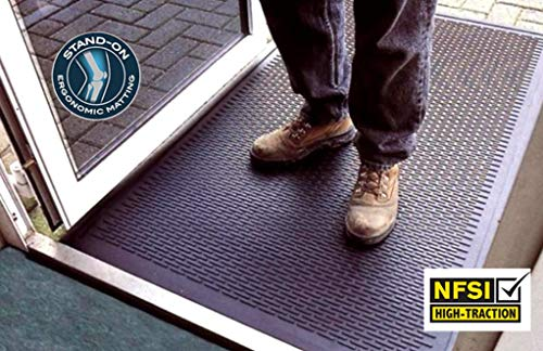 Kleen-Scrape Multi-Purpose Scraper Mat - Certified Commercial Grade Industrial Non Slip Floor Mat for Entrances, Kitchens, Wet Bars, Production Areas (3