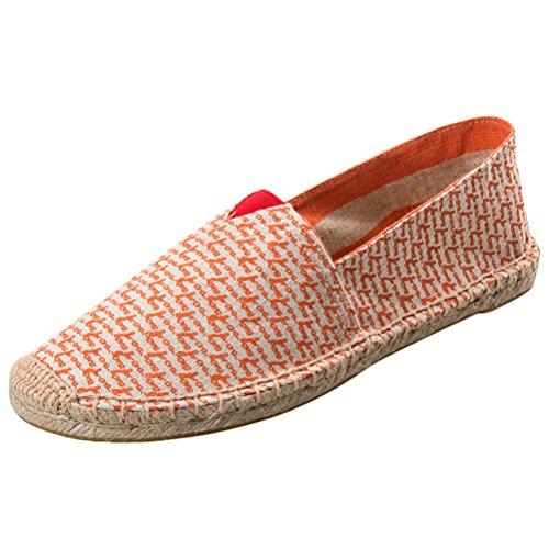 Vogstyle Unisex Adulto Zapato Flats Ballerinas Slip-On Zapatos de Lona Estilo 11-Rojo