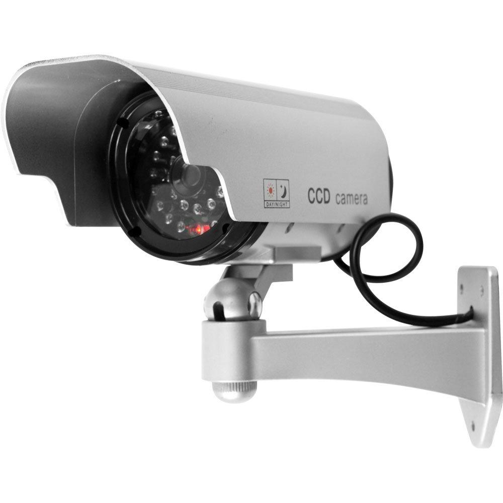 Trademark Home 72-hh659/Leurre Cam/éra de s/écurit/é avec LED Clignotant et support r/églable