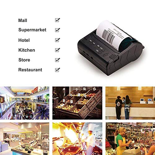 80MM Thermal Printer Support Windows Bluetooth and USB Black 7 Android and 1 IOS Wireless by Oshide (Image #5)