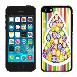Custom Iphone 5C TPU Case Merry Christmas Black iPhone 5C Case 82