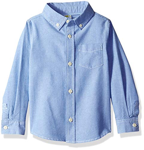 - Crazy 8 Boys' Big Long Sleeve Oxford Buttton Up Dress Shirt, Chambray Blue, 5T