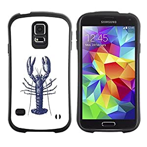 Suave TPU Caso Carcasa de Caucho Funda para Samsung Galaxy S5 SM-G900 / Ink Tattoo White Blue Art / STRONG