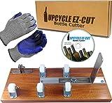 Glass Bottle Cutter, Upcycle EZ-Cut Bottle Cutter Machine Tool for Wine Bottles, Beer Bottles + Sanding Paper, Disc Tutorial & Gloves