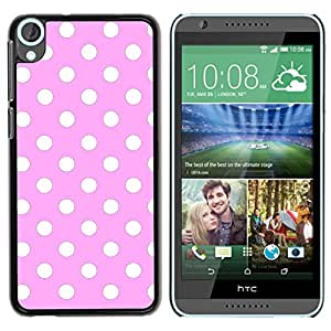 Graphic4You Polka Dots Pattern Design Thin Slim Rigid Hard Case Cover for HTC Desire 820 (Light Pink)