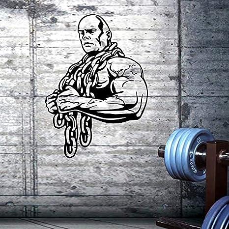 Etiqueta engomada del gimnasio Ironmen Fitness Cadena de Crossfit Mancuerna Calcomanía Construcción de carteles Tatuajes de
