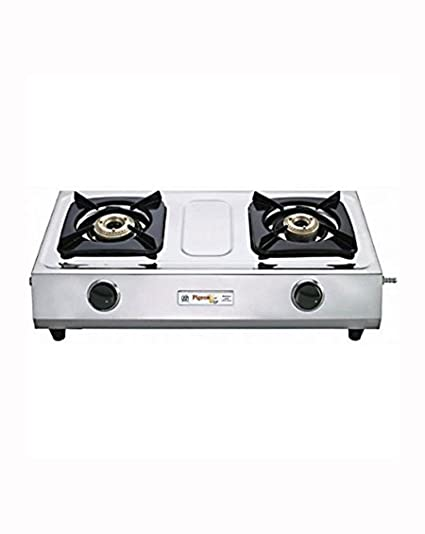 Pigeon Galaxy  Stainless Steel 2 Burner Gas Stove, Silver