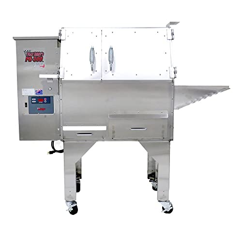Primo Oval XL 400 Ceramic Smoker Grill On Cart with 1-Piece Island Top