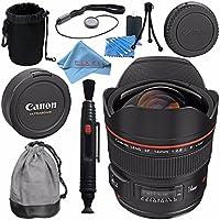 Canon EF 14mm f/2.8L II USM Lens 2045B002 + Lens Cleaning Kit + Lens Pouch + Lens Pen Cleaner + Fibercloth Bundle