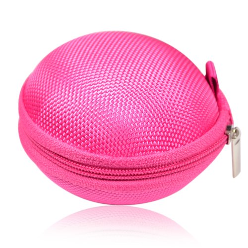 It is Earphone Headset Earbuds Hard Hold Case (Hot Pink)