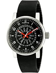 Fortis Mens 623.10.51 SI.01 Spacematic Classic Black-Red Analog Display Automatic Self Wind Black Watch
