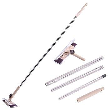 Limpiador limpiador de limpiaparabrisas de microfibra desmontable con mango largo Kit de herramientas profesional para alta