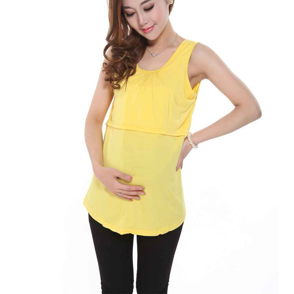 856df2942 Mengonee Ropa de Maternidad para Mujeres Embarazadas Suave Camiseta de  enfermería de Maternidad Ropa de Embarazo