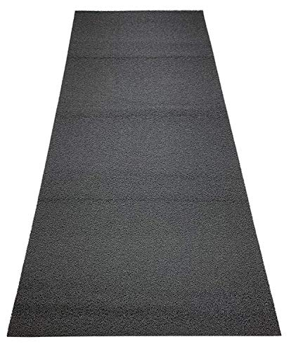 Custom Size Coil Scraper Mat with Slip Skid Resistant PVC Backing Entry Utility Mat (Grey, 36 in x 10 ft)