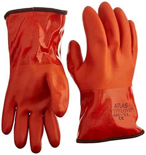 (Showa Atlas 460 Vinylove Cold Resistant Insulated Gloves - X-Large)