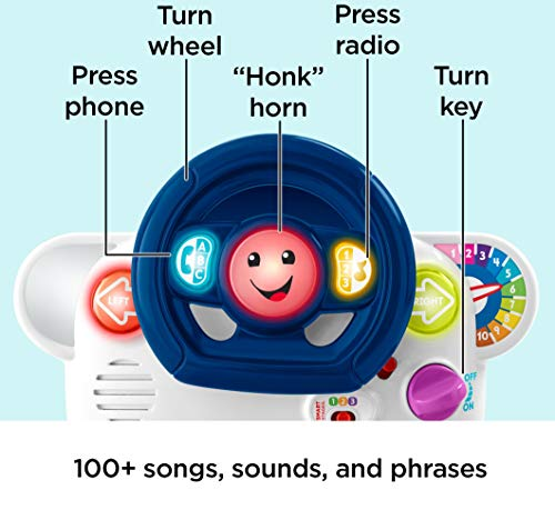 51RIP0TrsoL - Fisher-Price Laugh & Learn 3-in-1 Smart Car