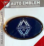 Vancouver Whitecaps FC Raised Metal Domed Oval Color Chrome Auto Emblem Decal MLS Soccer Football Club