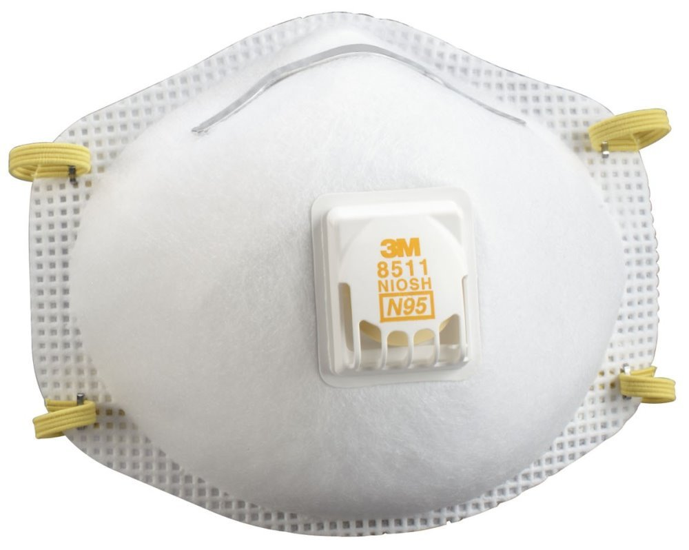 3M 8511 Particulate N95 Respirator with Valve (Pack of 40) by 3M