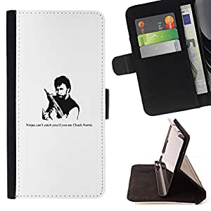 DEVIL CASE - FOR Sony Xperia Z2 D6502 - Ninja Gun Man Tough Strong Quote Funny Movie - Style PU Leather Case Wallet Flip Stand Flap Closure Cover