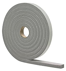 M-D Building Products 2279 High Density Foam Tape, 1/4-by-1/2-Inch by 17 Feet, Closed Cell, Gray