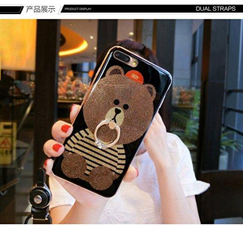 Funda iPhone 6/6S,Manyip Alta Calidad Ultra Slim Anti-Rasguño y Resistente Huellas Dactilares Totalmente Protectora Caso de Plástico Cover Case Adecuado para iPhone 6/6S,Oso de dibujos animados B