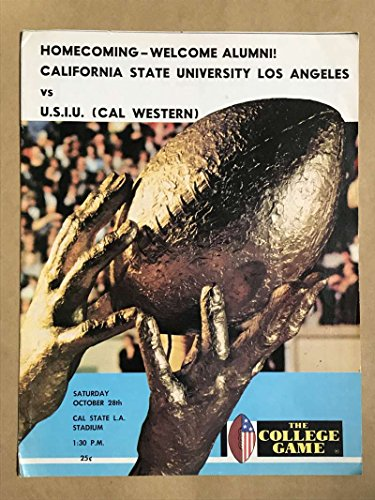 (U.S.I.U. CALIFORNIA STATE UNIV COLLEGE FOOTBALL PROGRAMS 1972)