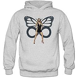 MARC Women's Mariah Carey Sweatshirt Ash Size XL