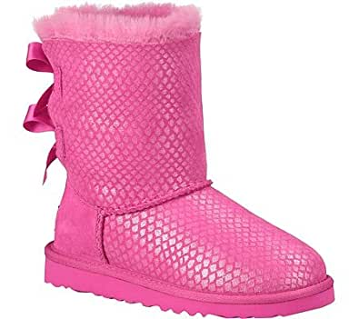 Amazon Com Ugg Australia Kids Bailey Bow Splash Boot