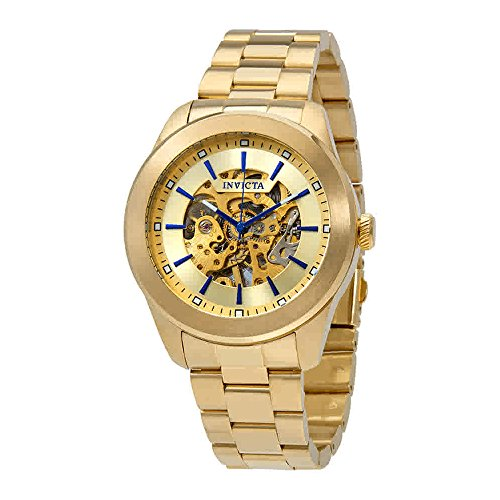 Vintage Automatic Gold Skeleton Dial Mens Watch - Invicta 25759