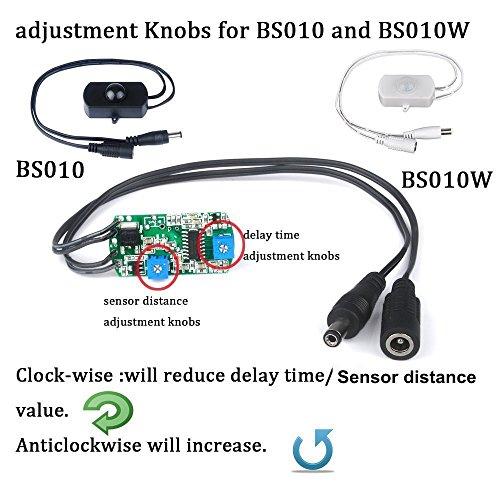 Sensky Bs010 12v 24v 3a Pir Motion Sensor Switch Long Distance Time Adjustable Small Sensor